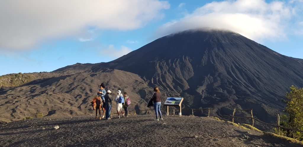 wulkan pacaya, trekking, konie