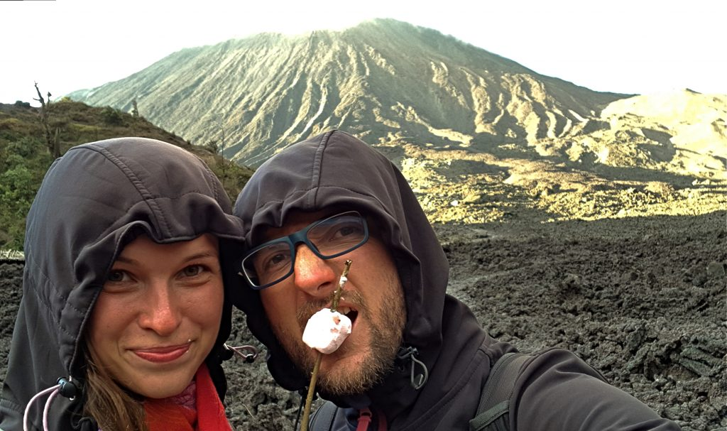 wulkan, pacaya, marshmallow,